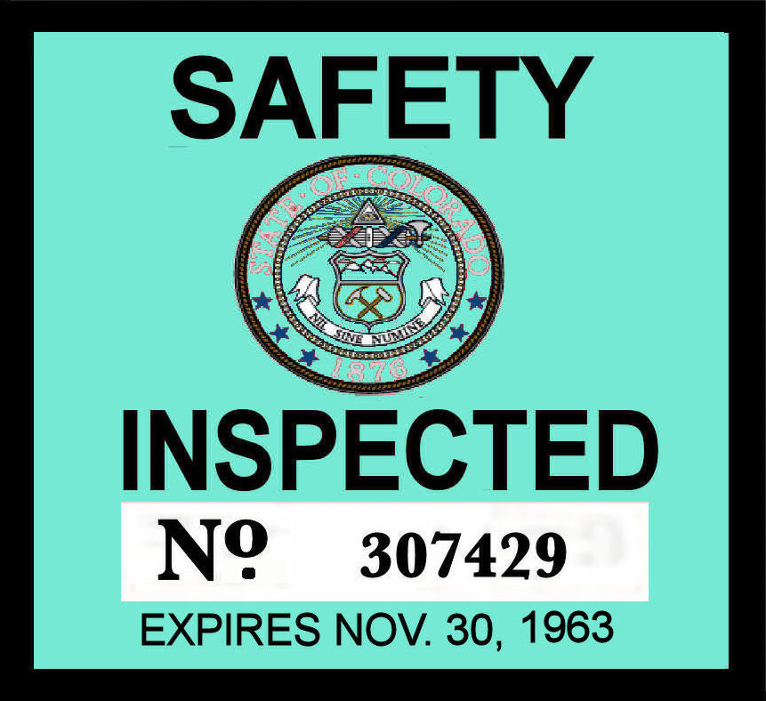 1963 Colorado Inspection sticker